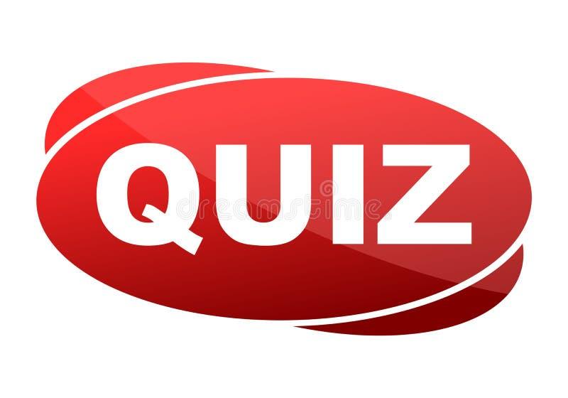 Czerwonego guzika quiz royalty ilustracja