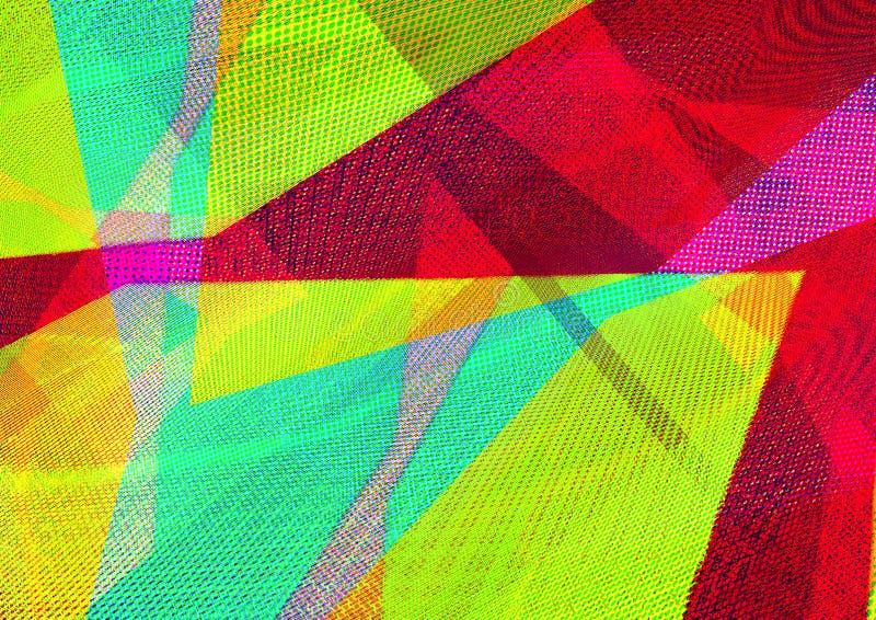 Czerwonego koloru geometryczny abstrakcjonistyczny tło dekoraci projekta ludowa wewn?trzna tekstura ukrainian tw?j ilustracja wektor