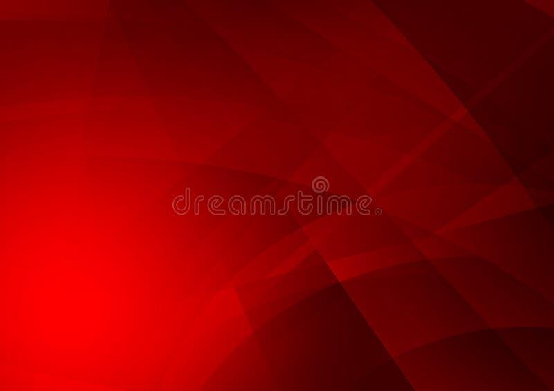 Czerwonego koloru geometryczny abstrakcjonistyczny tło, Graficzny projekt royalty ilustracja