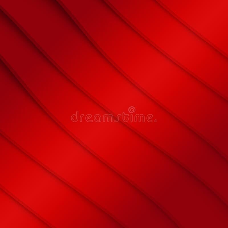Czerwonego koloru linii tło ilustracja wektor