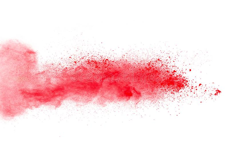 Czerwonego koloru proszek splatted zdjęcia royalty free
