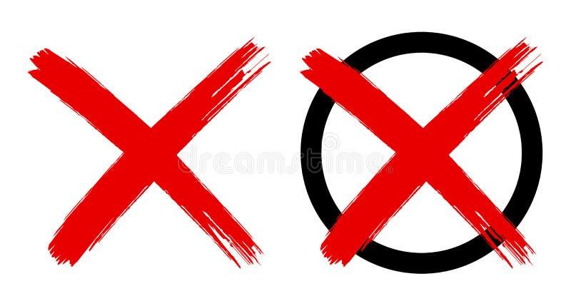 Czerwonego Krzyża symbol odizolowywający royalty ilustracja