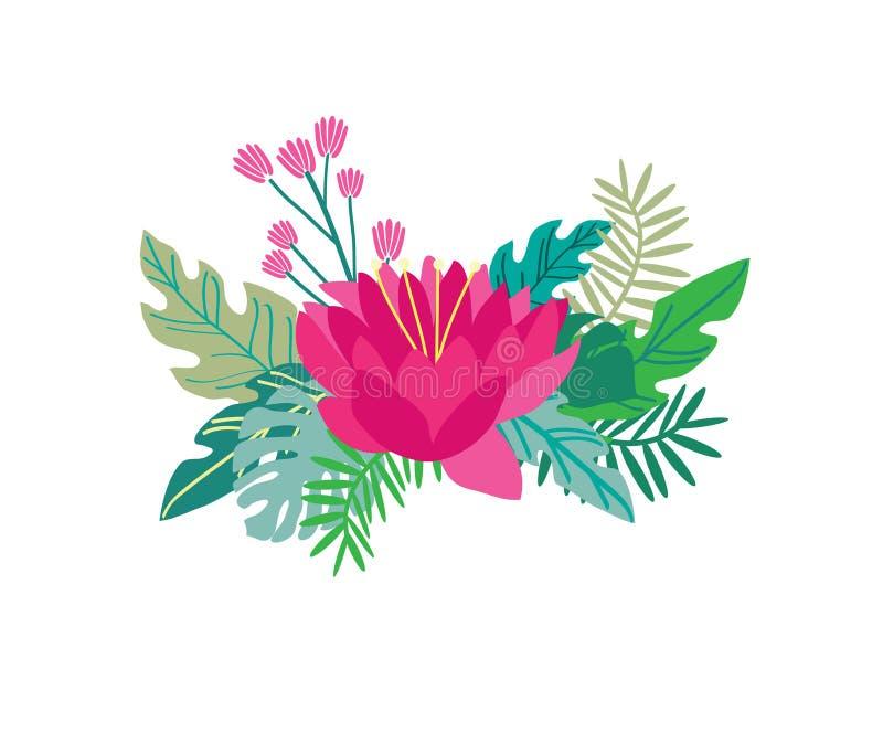 Czerwonego kwiatu wektorowy ilustracyjny projekt zdjęcia royalty free