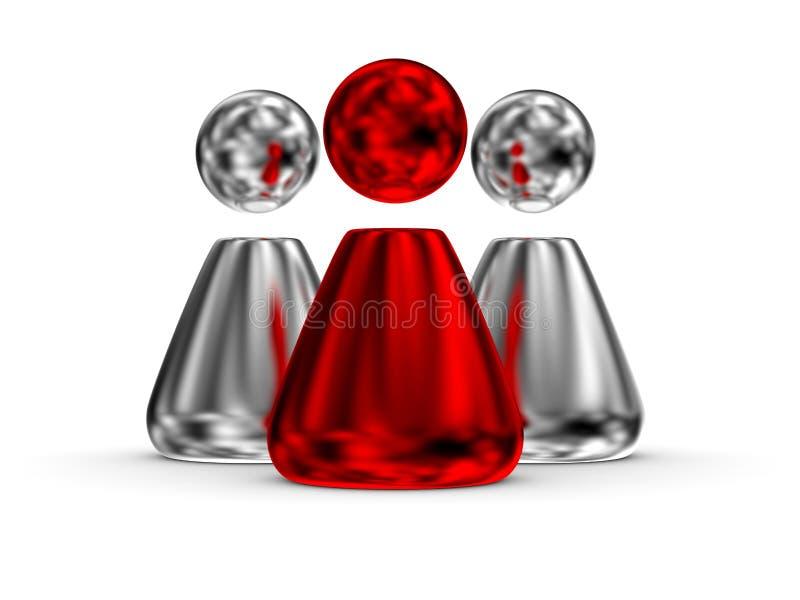 czerwonego lidera 04 ludzie ilustracja wektor