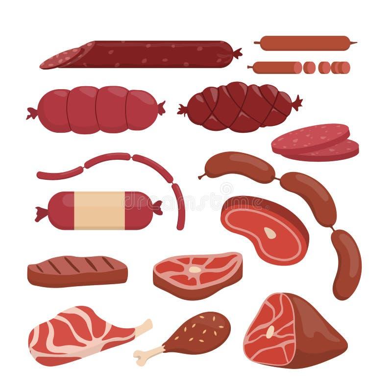 Czerwonego mięsa set royalty ilustracja