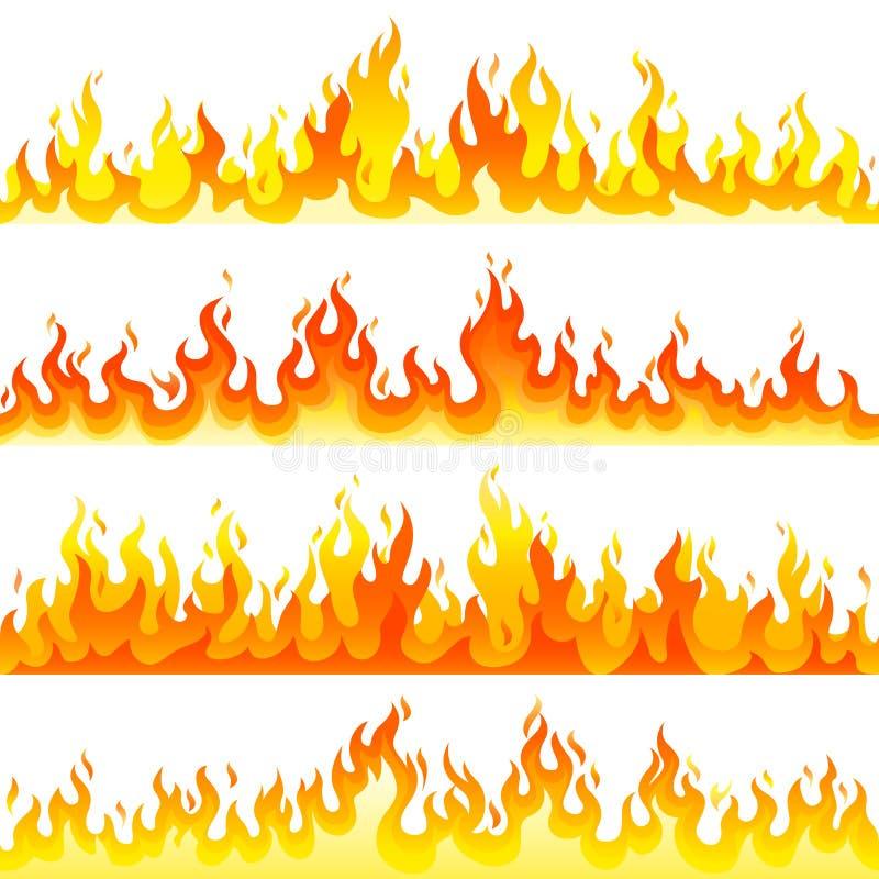 Czerwonego palenie ogienia płomienia loga projekta wektoru ustalony szablon royalty ilustracja