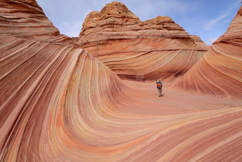 Czerwonego piaskowa fala zdjęcie stock