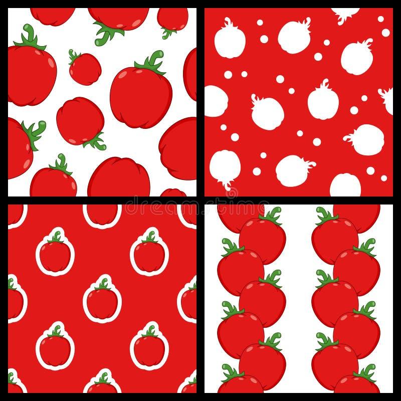 Czerwonego pieprzu Bezszwowi wzory Ustawiający ilustracji