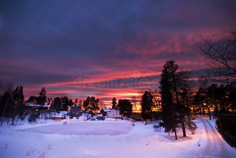 czerwonego słońca zdjęcia royalty free