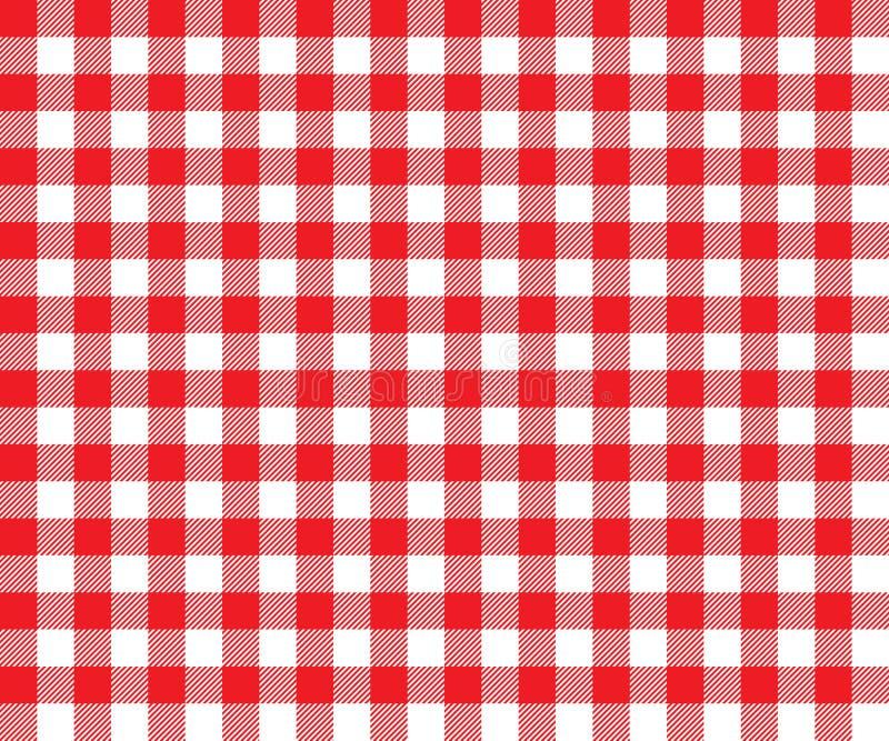 Czerwonego stołowego płótna tła bezszwowy wzór royalty ilustracja