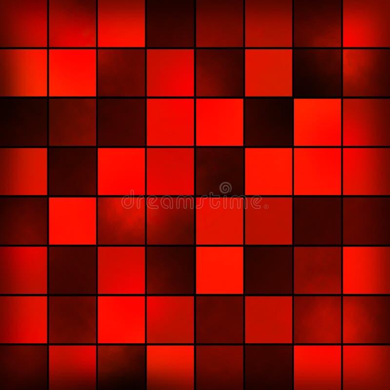Czerwonego tła abstrakcjonistyczny projekt royalty ilustracja