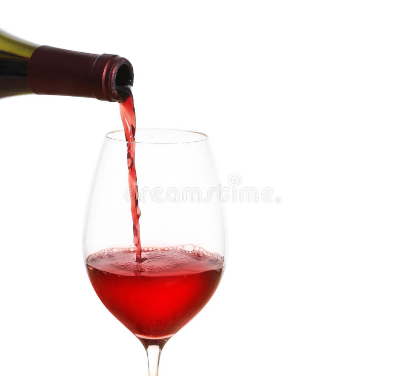 Czerwonego Wina dolewanie obraz royalty free