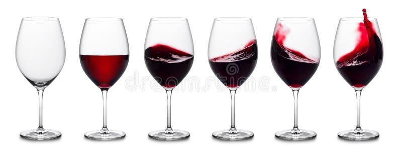 Czerwonego wina pluśnięcia kolekcja obraz stock