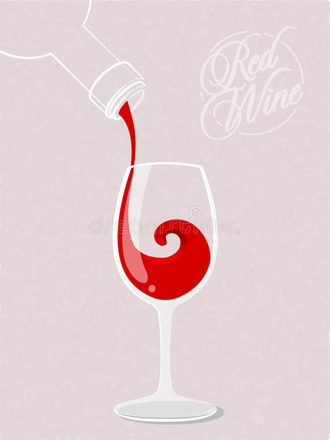 Czerwonego wina pluśnięcie ilustracji