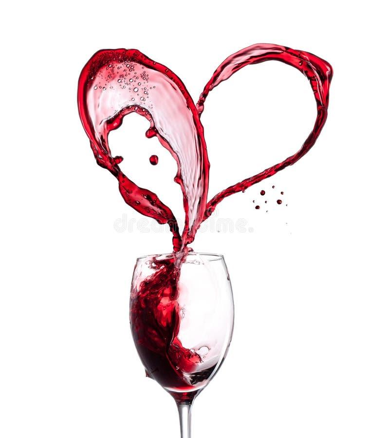 Czerwonego wina serce obraz royalty free