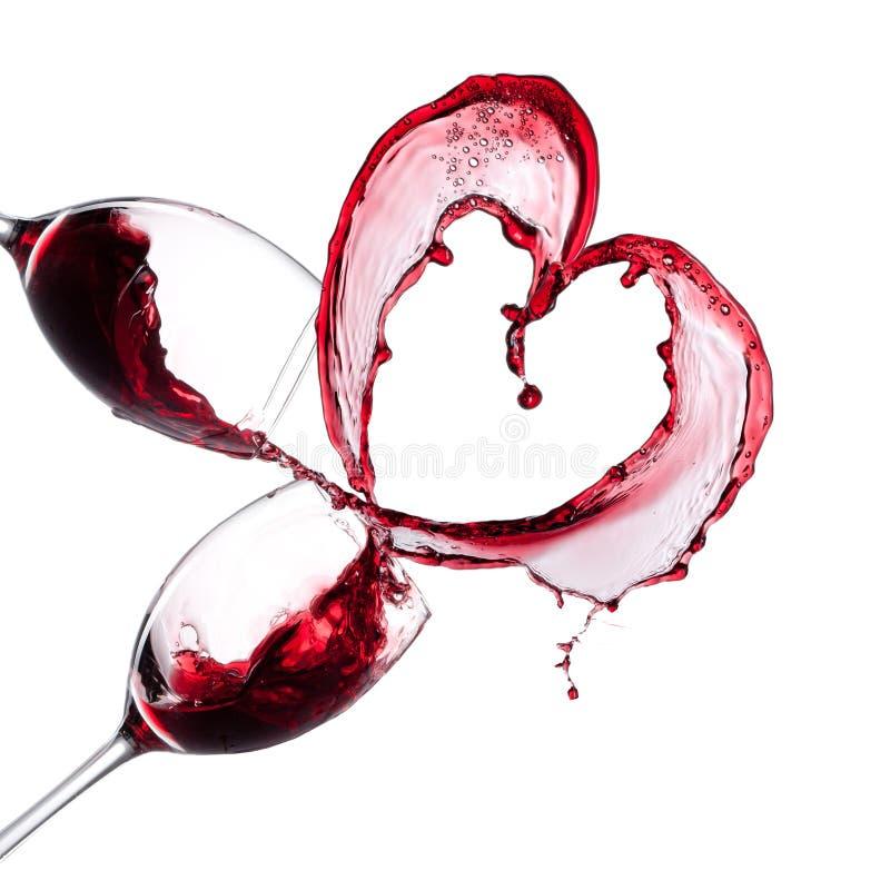 Czerwonego wina serce fotografia stock
