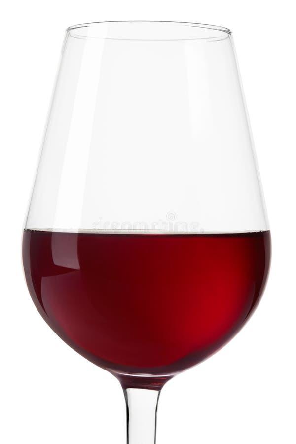 Czerwonego wina szkła zakończenie up na bielu, ścinek ścieżka zdjęcia royalty free