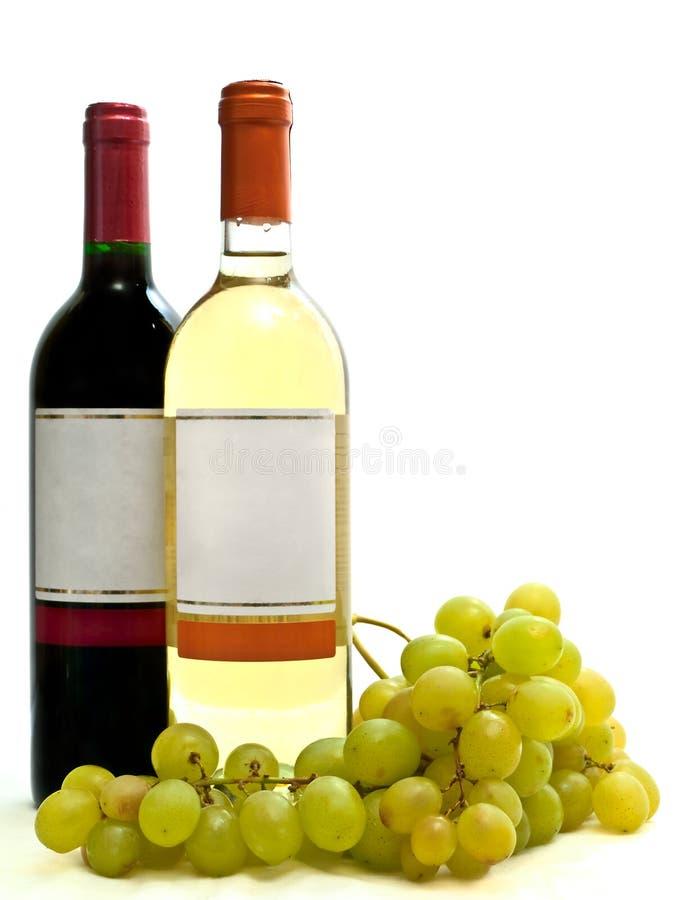 czerwonego winogradu biały wino zdjęcie stock