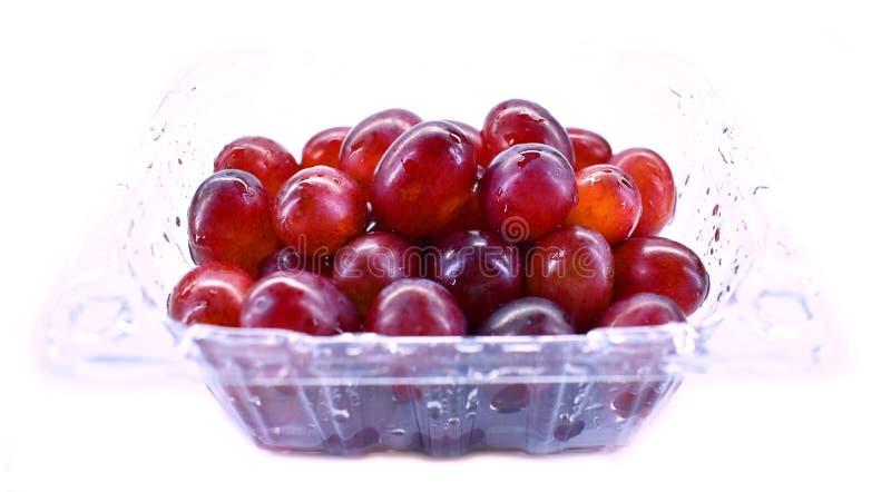 Czerwonego winogrona pudełko fotografia royalty free
