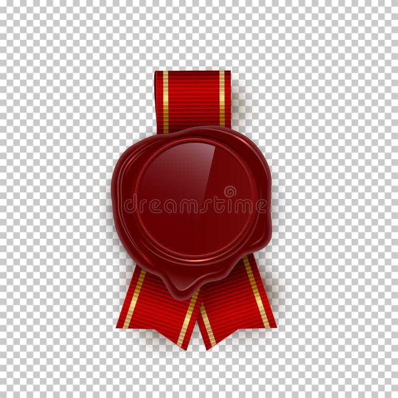 Czerwonego wosku rero foki koloru wektorowe ilustracje na przejrzystym tle ilustracja wektor
