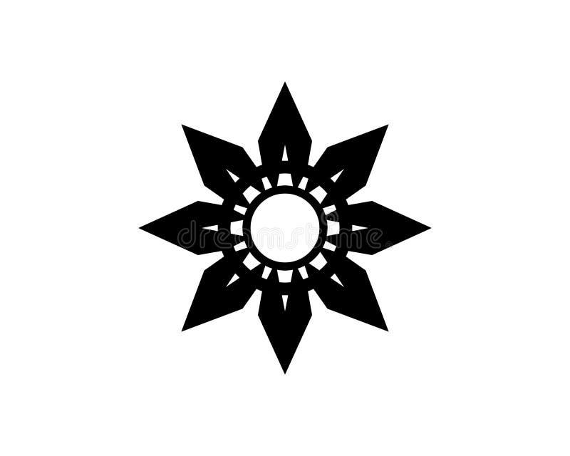 Czerwonej i b??kitnej gwiazdy jastrz?bka loga szablonu wektoru ikona royalty ilustracja