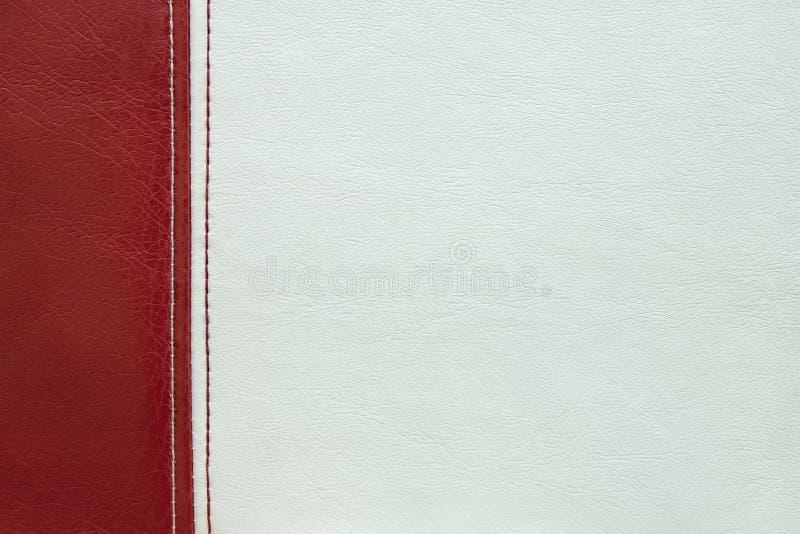 Czerwonej i białej skóry tekstury tło fotografia royalty free