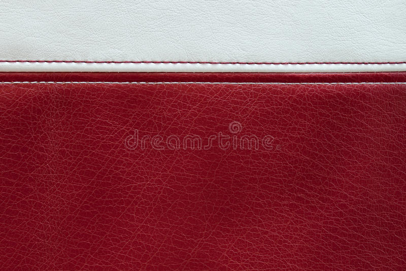 Czerwonej i białej skóry tekstury tło obraz stock