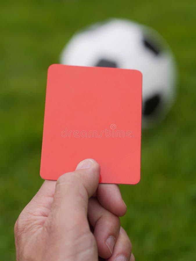 Czerwonej kartki piłka nożna zdjęcie stock