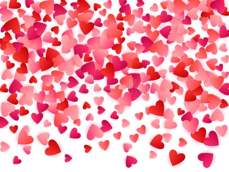 Czerwonej latającej serce jaskrawej miłości pasyjny wektorowy tło royalty ilustracja