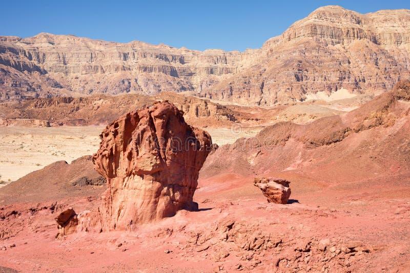 Czerwonej piasek skały geological formacje i atrakcje turystyczne od zdjęcie stock