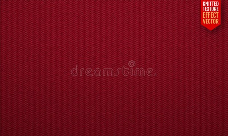 Czerwonej realistycznej dzianiny tekstury wektorowy bezszwowy wzór również zwrócić corel ilustracji wektora ilustracji