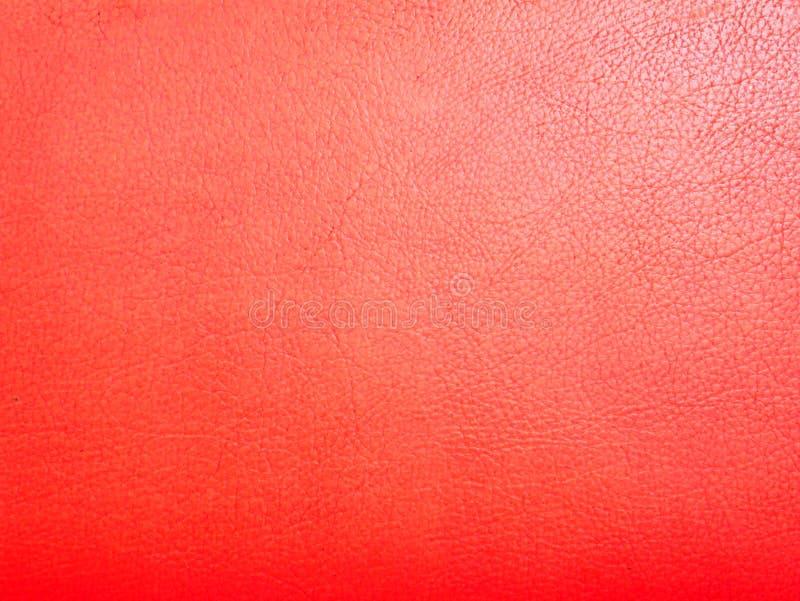 Czerwonej rzemiennej skóry tekstury makro- zakończenie w górę deseniowego tła fotografia royalty free