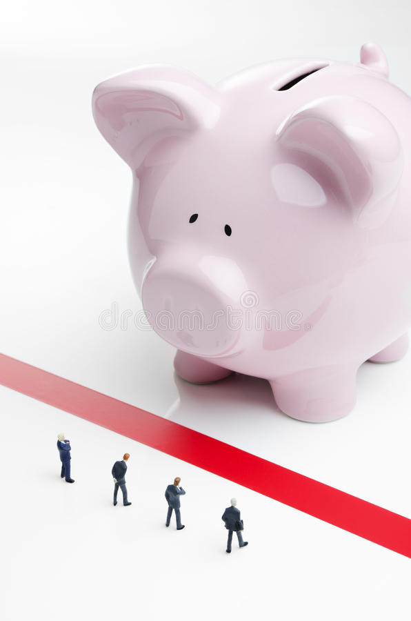 Czerwonej taśmy i biznesu pożyczanie obraz stock