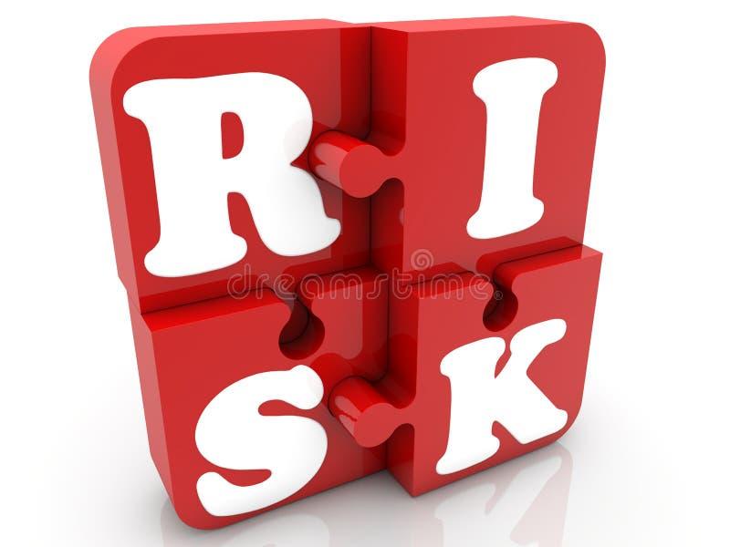 Czerwoni łamigłówka kawałki z ryzyka pojęciem ilustracja wektor
