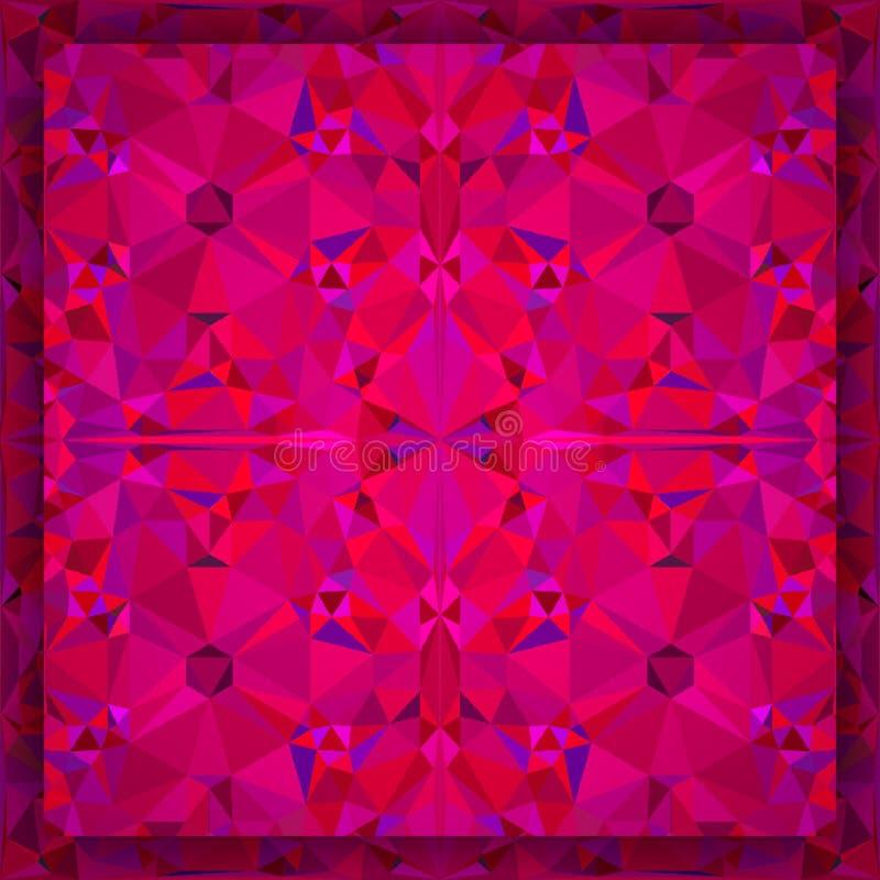 Czerwoni abstrakcjonistyczni trójboki obraz stock