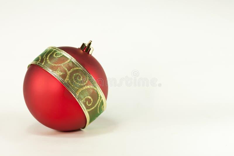 czerwoni balowi boże narodzenia obraz stock