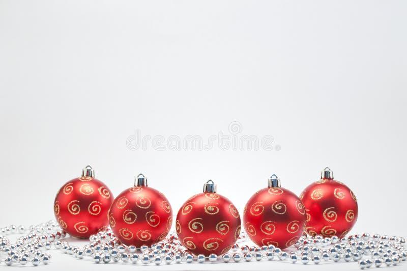 czerwoni baubles boże narodzenia zdjęcie stock