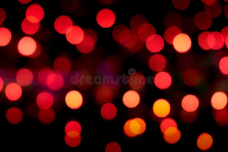 Czerwoni bokeh tła fotografia stock