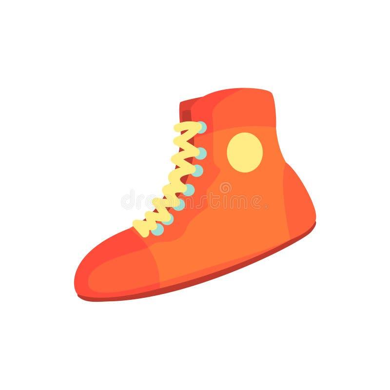 Czerwoni bokserscy buty, sporta wyposażenie Kolorowa kreskówka wektoru ilustracja ilustracji