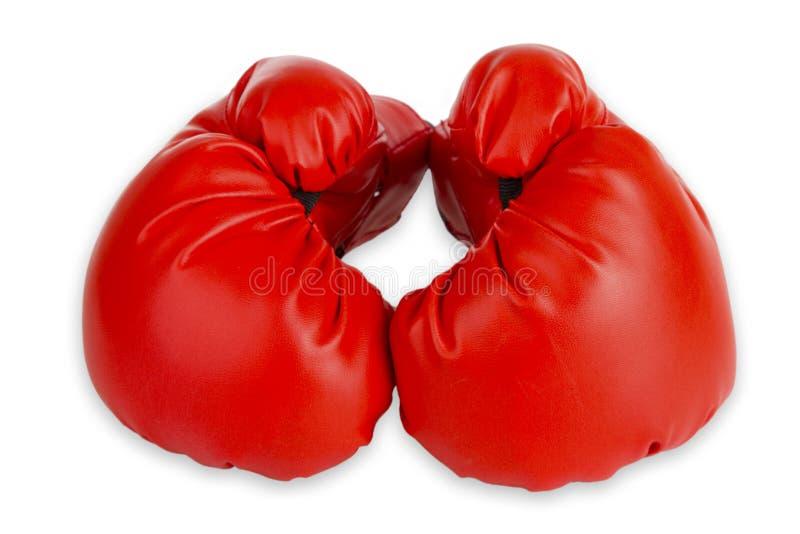 Czerwoni bokserscy cloves zdjęcie royalty free