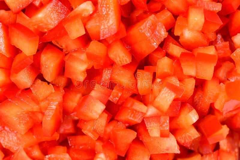 Czerwoni Capsicum kawałki fotografia stock