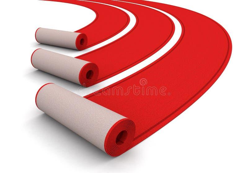 Czerwoni Chodniki (ścinek ścieżka zawierać) ilustracji