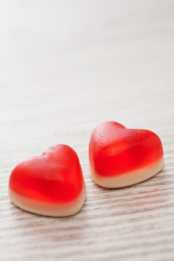 Czerwoni cukierków serca zdjęcie royalty free