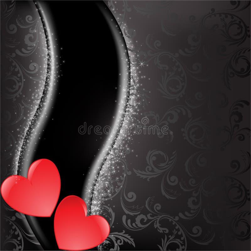 czerwoni czarny serca ilustracji