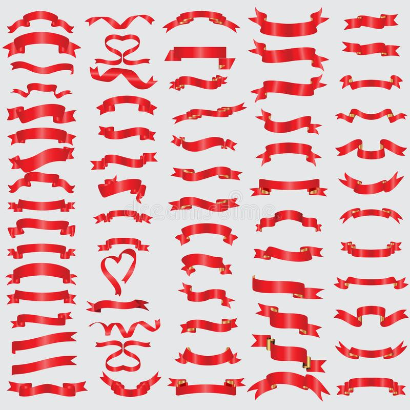 Czerwoni faborki inkasowi ilustracja eps10 royalty ilustracja
