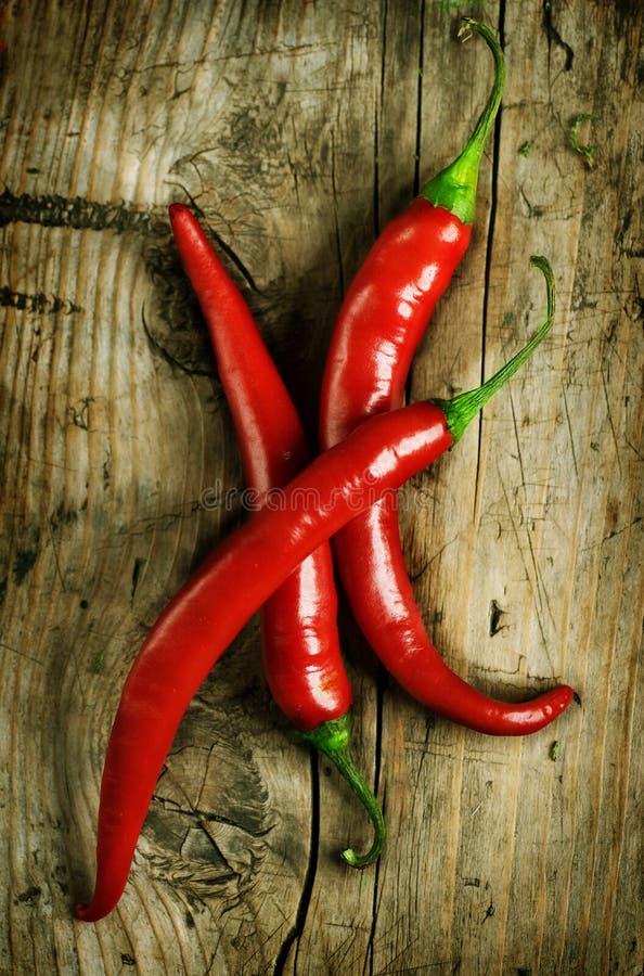 czerwoni gorący chili pieprze fotografia stock