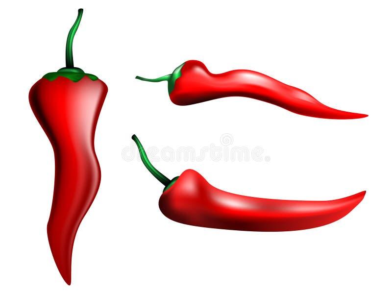czerwoni gorący chili pieprze royalty ilustracja