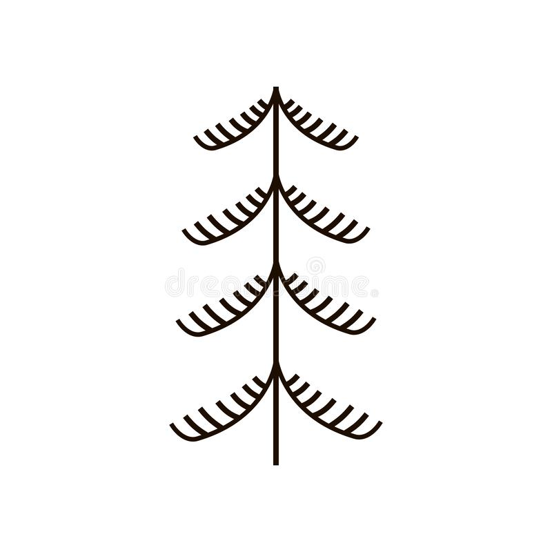 Czerwoni i czarni fantastyczni czarodziejscy drzewa Krajowi północni obrazy Ludowi rękodzieła czarowny ilustracja wektor
