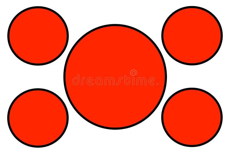 Czerwoni Kółkowi sztandary, czerni tło, Rabatowy i Biały Używa dla Ilustracyjnego zamierza, tło, strona internetowa, biznesy, royalty ilustracja