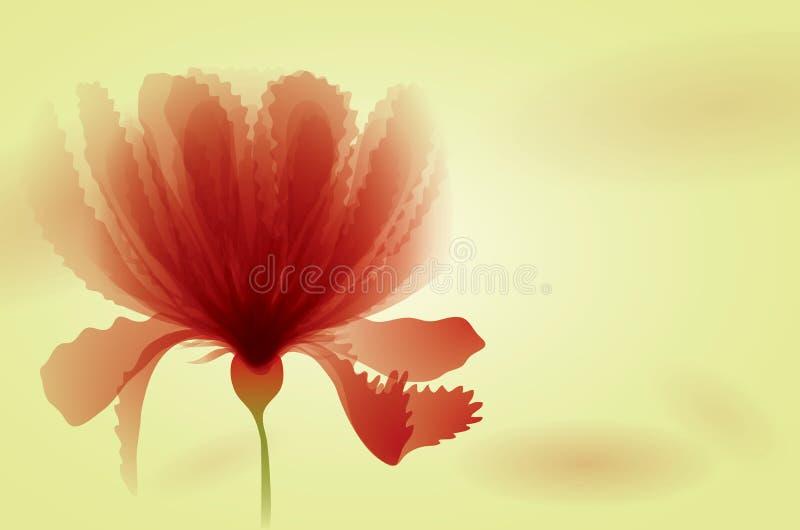 Czerwoni kwiaty ilustracja wektor